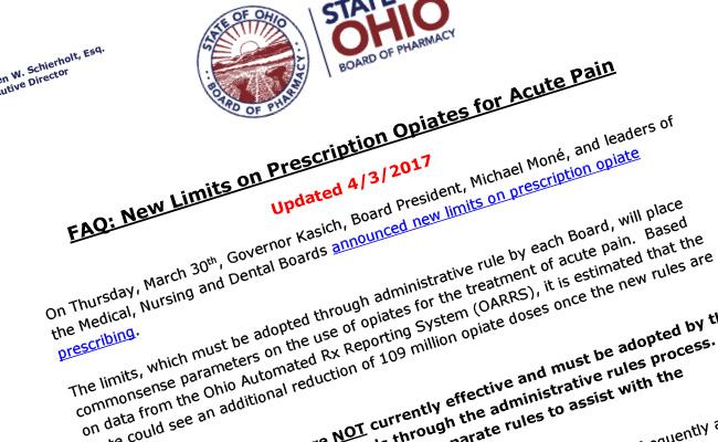 FAQ: New Limits on Prescription Opiates for Acute Pain