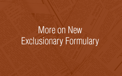OBON Posts More on New Exclusionary Formulary