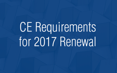 CE Requirements for 2017 Renewal