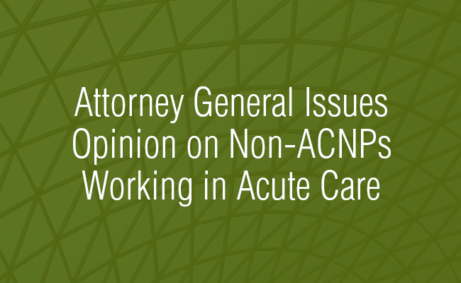 Non-ACNPs Working in Acute Care