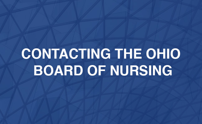 Contacting The Ohio Board of Nursing