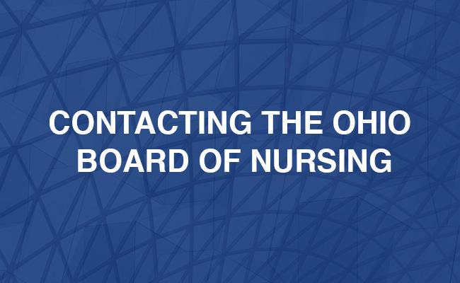Contacting The Ohio Board of Nursing