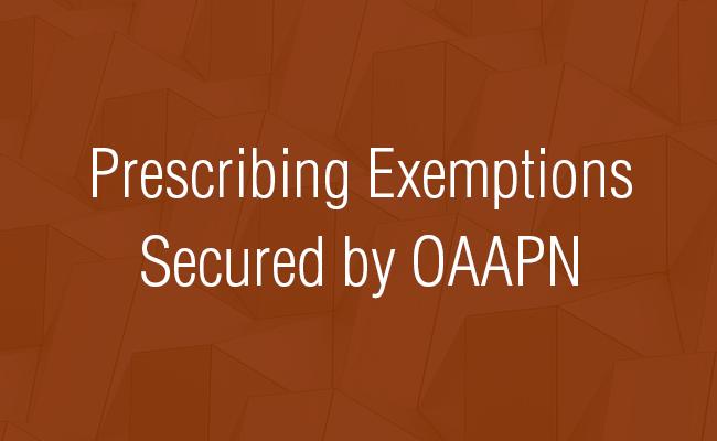 Psychiatric APRNs: Prescribing Exemptions Secured by OAAPN