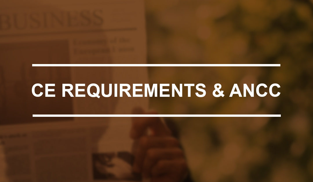 CE Requirements & ANCC