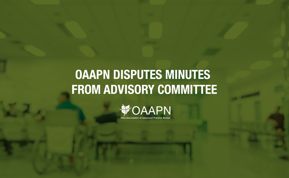 OAAPN Disputes Minutes from Advisory Committee