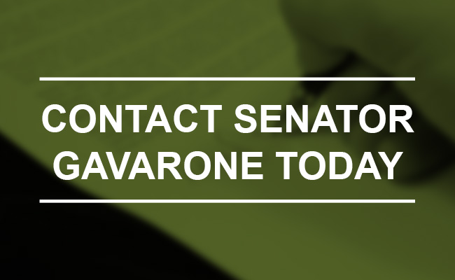 Call to Action: Contact Senator Gavarone Today with Your Support