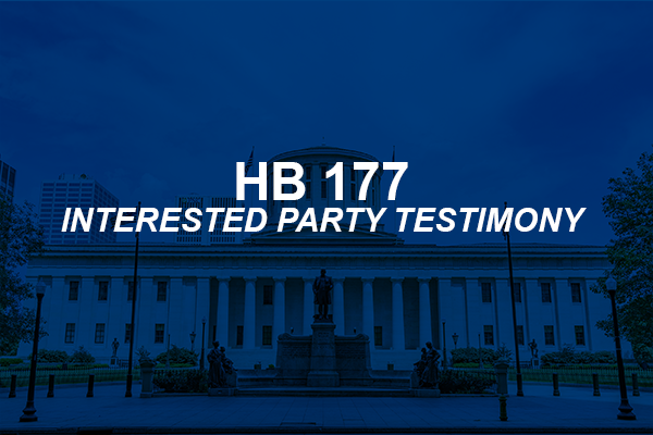 HB 177 Update: Interested Party Testimony