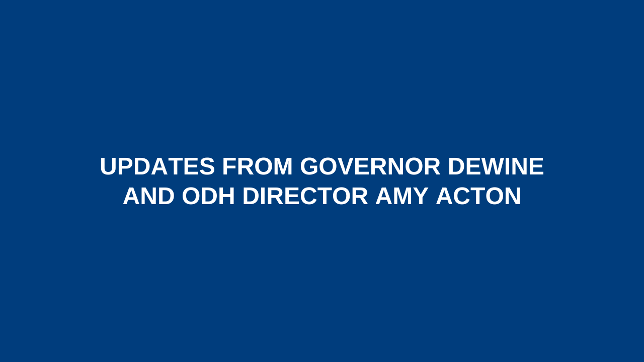 Updates from Governor DeWine