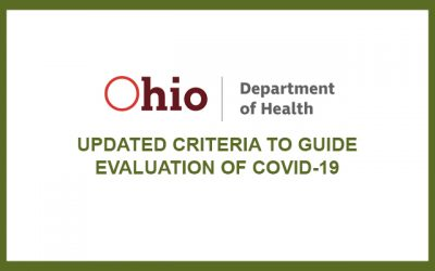 HEALTH ALERT – Coronavirus Disease 2019 (COVID-19): Updated Criteria to Guide Evaluation of COVID-19