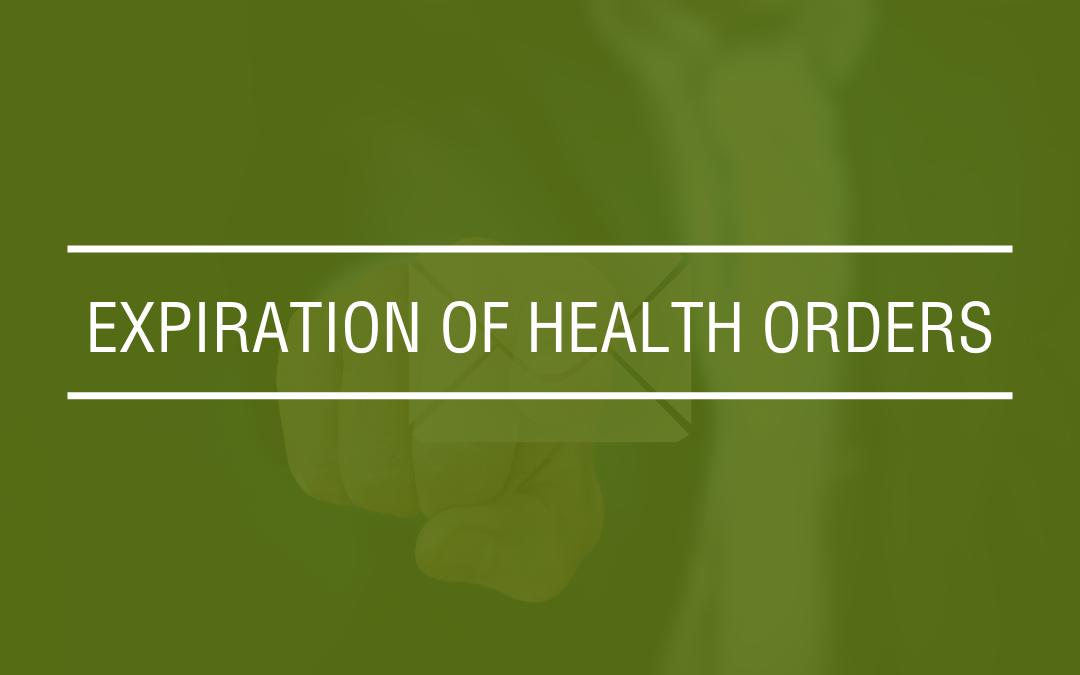 Health Orders
